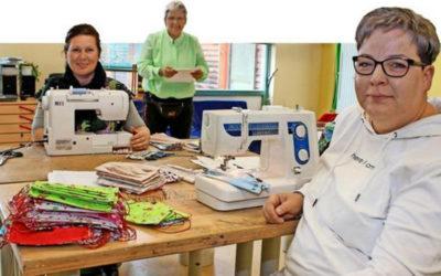 Caritas-Werkstatt näht Stoffmasken gegen Corona