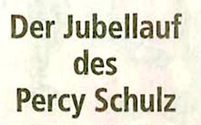 Der Jubellauf des Percy Schulz