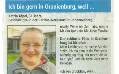 Ich bin gern in Oranienburg,weil…