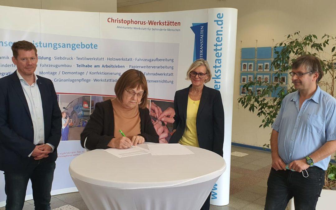 Kooperations- und Zielvereinbarung der Brandenburger Werkstätten für behinderte Menschen